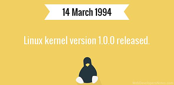 Linux 1.0.0