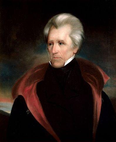 Andrew Jackson began his term of Presidency.