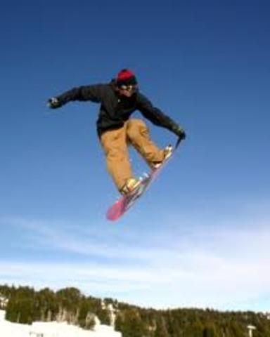First time snowboarding
