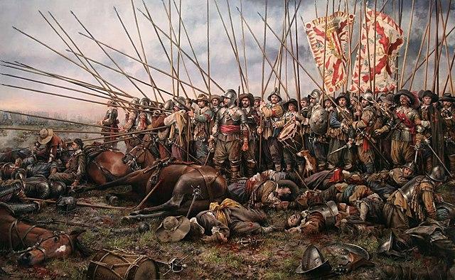 1503: el imperio español derrota a Francia en la batalla de Ceriñola.