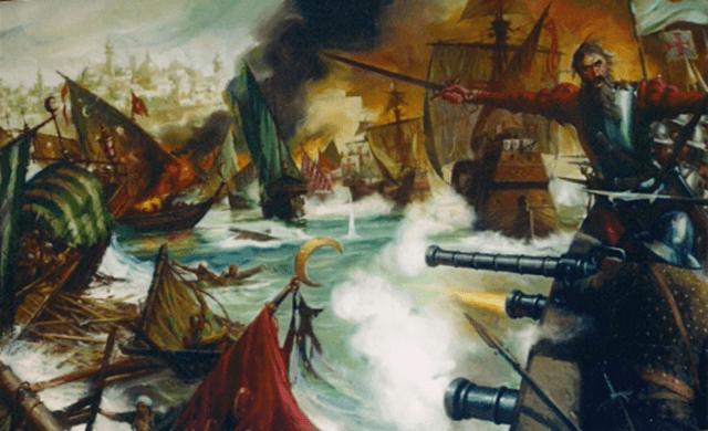 1509: Portugal vence en la batalla de Diu a una flota de otomanos, venecianos y mamelucos.