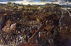 1525: el Imperio español y el Sacro Imperio Romano-Germánico vencen a Francia en la batalla de Pavía.