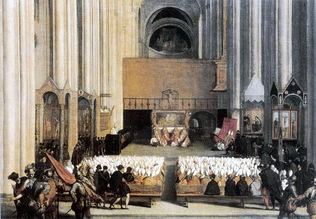 """1543: comienzo de la Contrarreforma: """"Concilio de Trento""""."""