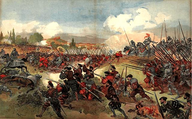 1544: Francia derrota a un ejército germano-español en la batalla de Cerisoles.