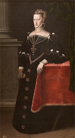 1548: Comienza la regencia de María de Austria en España hasta 1551, cuando volvió Felipe II, su hermano.