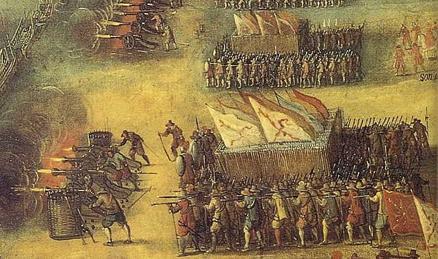 1558: Victoria en la batalla de Gravelinas.