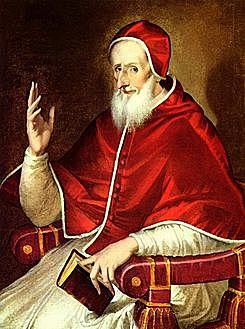 1571: el Papa Pío V crea la Liga Santa encabezada por España y formada por Venecia, Malta y los Estados Pontificios.