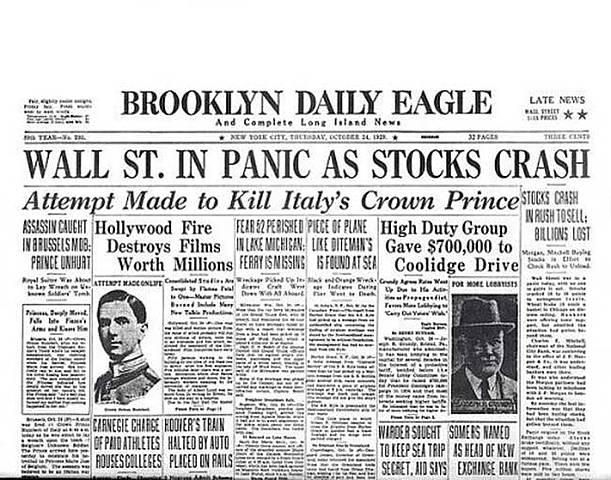 The New York Stock Exchange Collapses