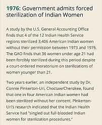 The Government admits to forced sterilization of Indian Women:1976