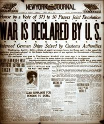U.S. Declares war on Germany