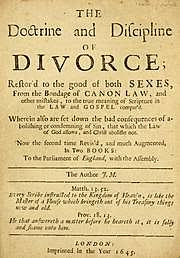 Doctrine and Discipline of Divorce