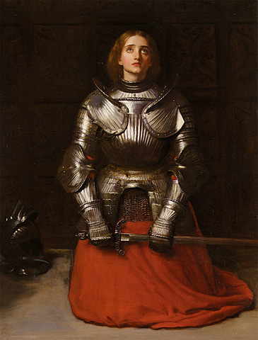 Joan arrived st. Catherine of Fierbais and she found the Charles Martel's sword
