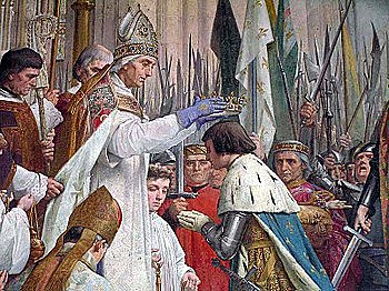 Charles VII is crowned as king of France.