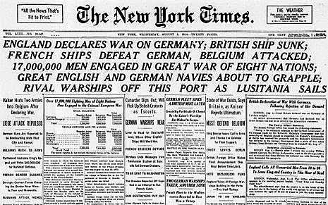 Gran Bretanya entra en guerra.