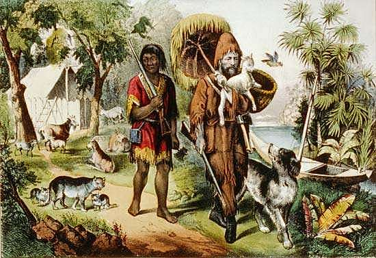 Daniel Defoe's Robinson Crusoe, with its detailed realism, can be seen as the first English novel