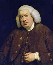 James Boswell meets Samuel Johnson for the first time, in the London bookshop of Thomas Davies