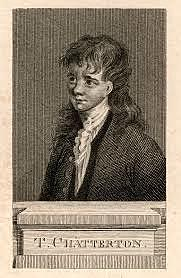 17-year-old Thomas Chatterton, later hailed as a significant poet, commits suicide in a London garret