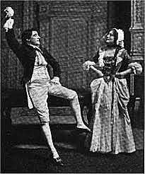 Oliver Goldsmith's play She Stoops to Conquer is produced in London's Covent Garden theatre
