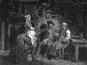 Scottish poet Robert Burns publishes Tam o' Shanter, in which a drunken farmer has an alarming encounter with witches