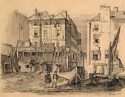 12-year-old Charles Dickens works in London in Warren's boot-blacking factory.