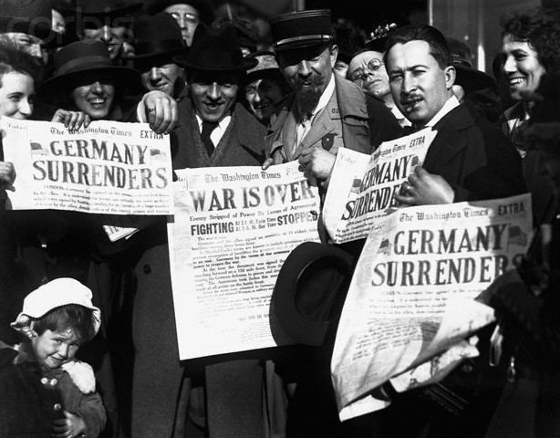 Germany surrenders/ Armistice signed