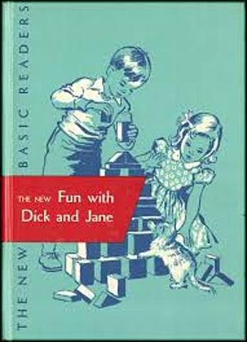"""William Gray and others authored """"Basic Readers"""" Dick & Jane."""