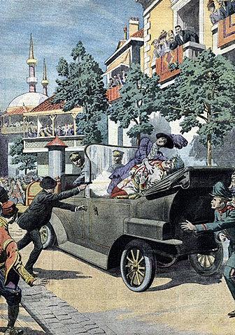 Esclat de la Gran Guerra. Atemptat contra l'arxiduc Francesc Ferràn d'Àustria