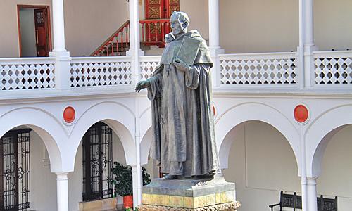 La estatua de fray Cristobal