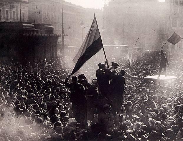 Proclamación de la República en España.