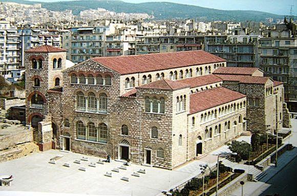 Κτίσιμο του Αγίου Δημητρίου στην Θεσσαλονίκη.