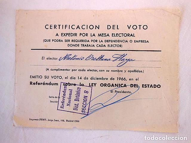 Referéndum sobre la Ley Orgánica del Estado.