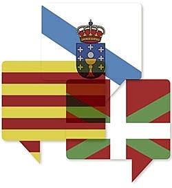 Declaradas como lenguas oficiales el Catalán, Vasco y Gallego