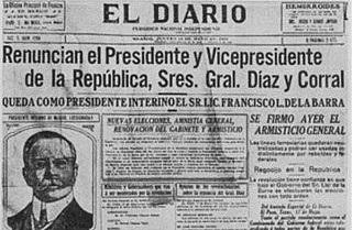 Renuncia De Diaz y Corral