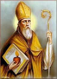 """Un filósofo del lenguaje: San Agustín (354-430). """"Agustín, puede ser calificado como el mayor semiótico de la antigüedad y al mismo tiempo como el verdadero fundador de esta rama de la investigación""""."""
