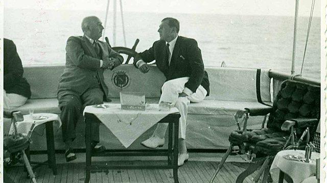 Entrevista Franco-Don Juan. Don Juan Carlos viene a España.