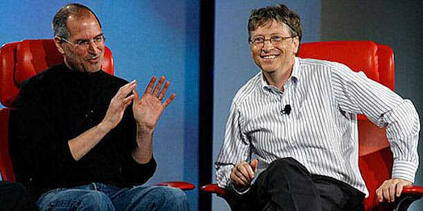 Relación entre Jobs y Gates.