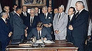 Nuclear Test Ban Treaty is Signed