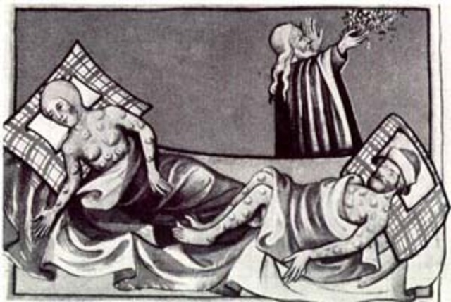 The Black Death ravages Europe