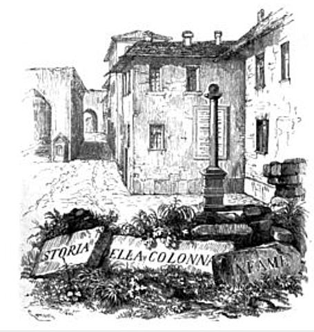 Storia della colonna infame Manzoni