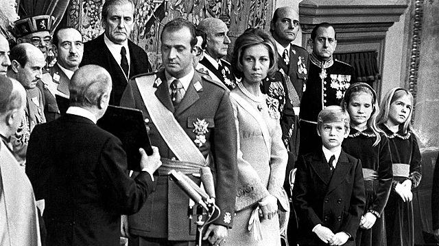 Proclamación de Juan Carlos I como rey de España.