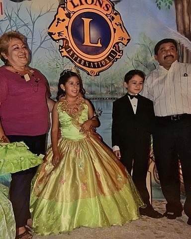 Reina de la asociacion the Lions International Club