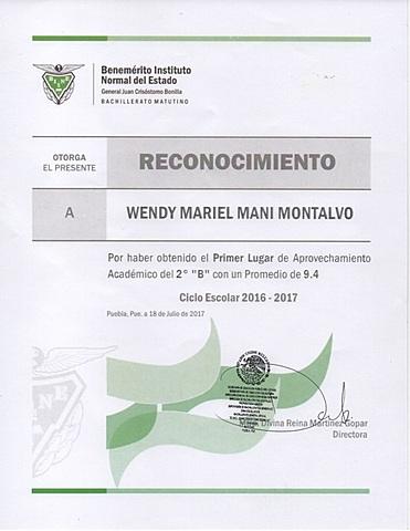 RECONOCIMIENTO DE SEGUNDO DE BACHILLER