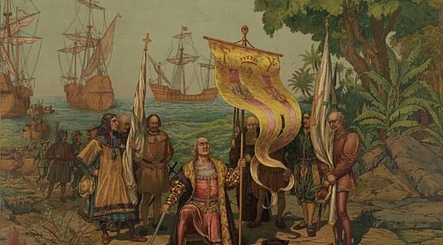 Cristobal Colon discovered America