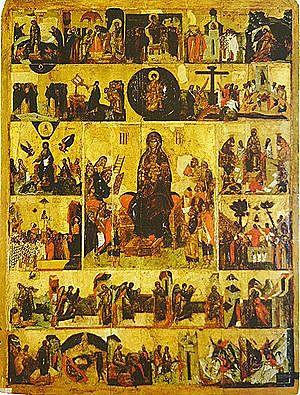 Η Κωνσταντινούπολη πολιορκείται από τους Πέρσες και τους Αβαρο-Σλάβους, Ακάθιστος Ύμνος.