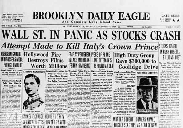 Caída de Wall Street