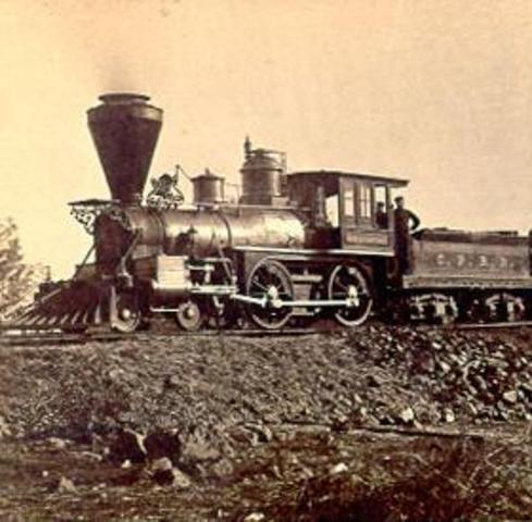 Steam-driven locomotive