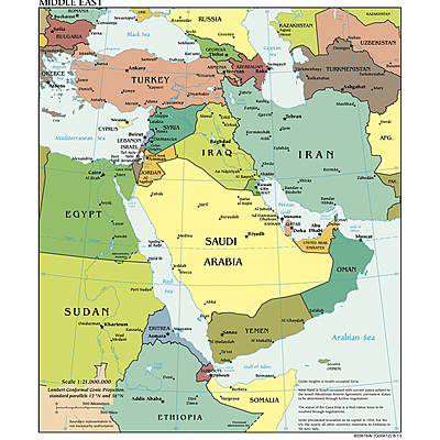 Timeline of the Modern Middle East - G Block