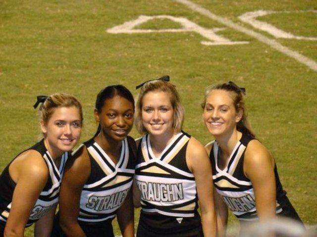 I made the cheerleading squad, again.