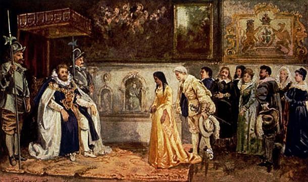 Pocahontas Goes to England