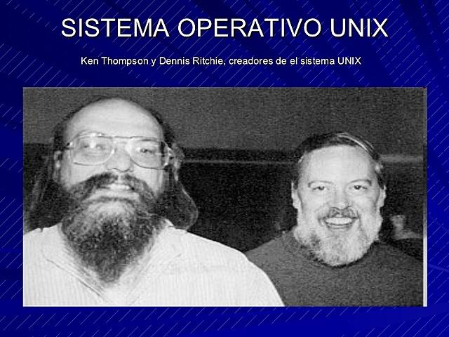 Sistema operativo UNIX.